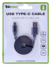 Billede af USB TYPE C KABEL FLAD 1 M GRÅ TIL SAMSUNG 9 SERIEN