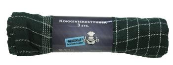Billede af VISKESTYKKE MØRKEGRØN 3-PK. STR. 50 X 70 CM.