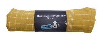 Billede af VISKESTYKKE KARRYGUL 3-PK. STR. 50 X 70 CM.