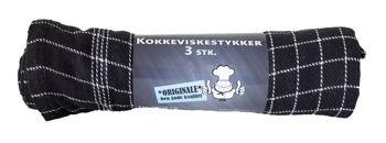Billede af VISKESTYKKE SORT 3-PK.  STR. 50 X 70 CM.