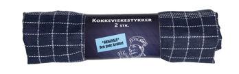 Billede af VISKESTYKKE MØRKEBLÅ 2-PK.  STR. 50 X 70 CM.