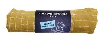 Billede af VISKESTYKKE KARRYGUL 2-PK. STR. 50 X 70 CM.
