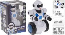 Billede af ROBOT MED BEVÆGELSE, LYD & LYS STR. 22 X 12X 13 CM.