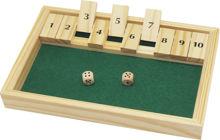 Billede af SHUT THE BOX 1-10    28 X18 CM SPIL FOR 1 TIL FLERE PERSONER