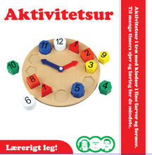 Billede af AKTIVITETSUR I TRÆ TIL BØRN STR. Ø 18,5 CM.