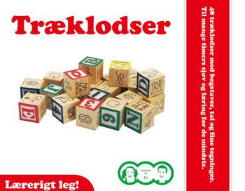 Billede af TRÆKLODSER TIL BØRN  48 STK. MED TAL, BOGSTAVER OG FIGURER