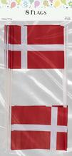 Billede af FLAG PÅ PIND HURRA 10 X 15 CM Á 8 STK PAPIR