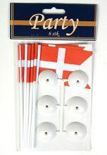 Billede af FLAG PÅ FOD 6 STK.