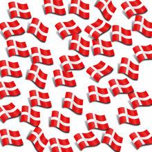 Billede af SERVIET 3-LAGS Á 20 STK. DANNEBROGSFLAG 33 X 33 CM.