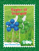 Billede af KUGLER TIL STIGEGOLF 3 X 2 STK GRØN OG BLÅ